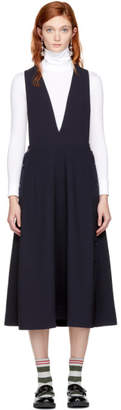 Studio Nicholson Navy Tardani Apron Dress