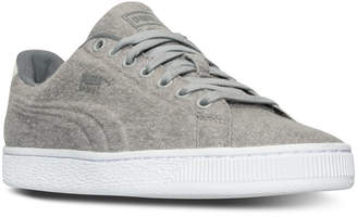 Puma Men's Basket Classic Embossed Wool Casual Sneakers from Finish Line