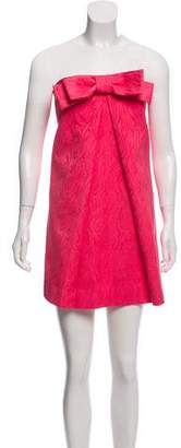 Milly Bow-Accented Strapless Mini Dress w/ Tags