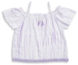 Flowers By Zoe Girls 7-16 Girls Tie-Dye Off-the-Shoulder Top $56 thestylecure.com