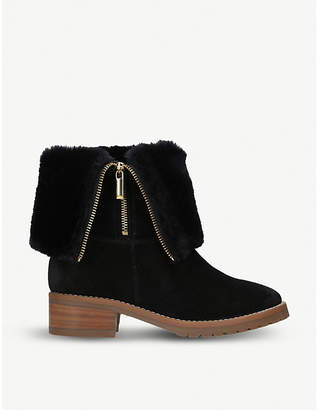 Carvela Snug fold-down suede ankle boots