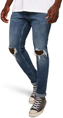 Topman Polly Ripped Stretch Skinny Jeans