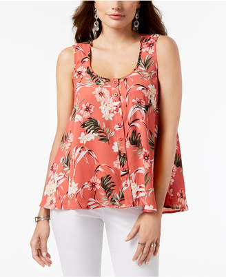 Style&Co. Style & Co Petite Printed Swing Shirt, Created for Macy's