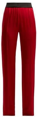 Haider Ackermann Kuiper Straight Leg Trousers - Womens - Red