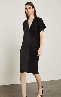 BCBGMAXAZRIA Two-Tone Draped Shift Dress