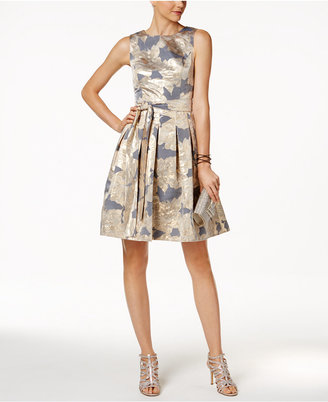 Tommy Hilfiger Metallic-Print Fit & Flare Dress $149 thestylecure.com
