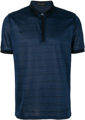 Corneliani striped polo shirt