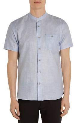 Ted Baker Selday Granddad Regular Fit Button-Down Shirt