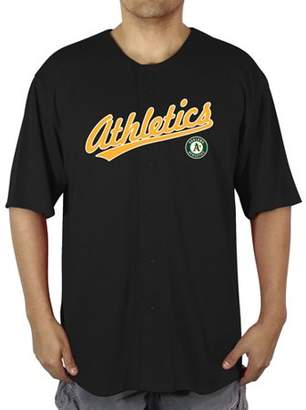 MLB Oakland A's Big Men's Poly Button Down Jersey