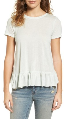 Women's Hinge Cross Back Ruffle Tee $39 thestylecure.com