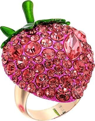Betsey Johnson Bright Strawberry Rings