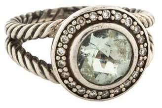 David Yurman Prasiolite & Diamond Albion Cocktail Ring silver Prasiolite & Diamond Albion Cocktail Ring