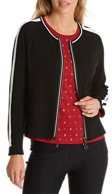 Betty Barclay Stripe Zip Cardigan, Black