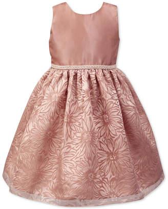 Jayne Copeland Little Girls Floral Organza Burnout Dress