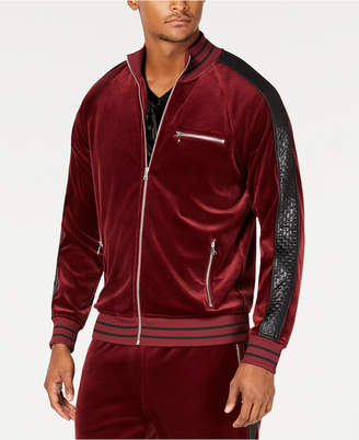 INC International Concepts I.N.C. Men's Velour Side Stripe Track Jacket, Created for Macy's