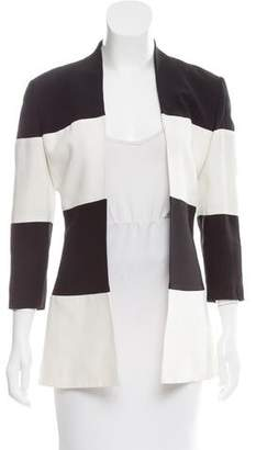 Genny Striped Open Front Jacket