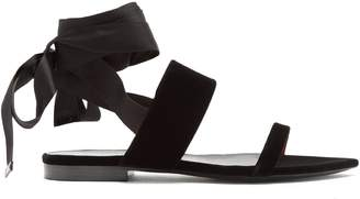 Saint Laurent Tribute ribbon-tie flat sandals