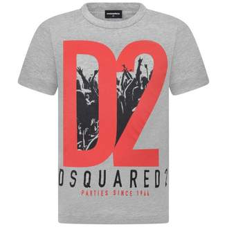 DSQUARED2 Dsquared2Boys Grey Logo Top