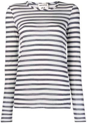 Semi-Couture Semicouture Tuck striped long sleeve top