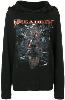 R 13 megadeath print hoodie