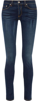 Rag & Bone The Skinny Mid-rise Jeans - Dark denim