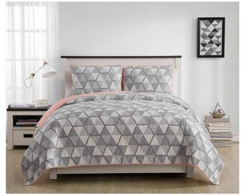VCNY Gray Brynley Printed Quilt Set - VCNY®