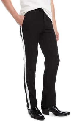Calvin Klein Men's MWPA12 Two-Tone Side-Stripe Wool Pants