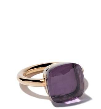 Pomellato 18kt rose & white gold maxi Nudo amethyst ring