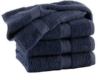 HomeLabels Premium 100% Cotton Grey Bath Towel Set (4 Pack