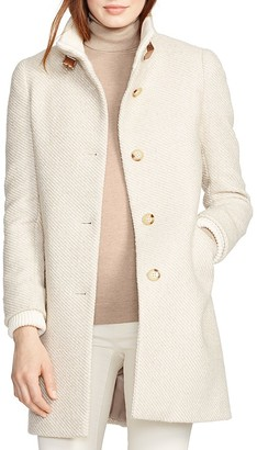 Lauren Ralph Lauren Textured Tweed Coat $320 thestylecure.com