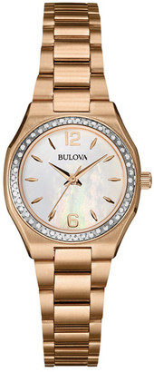 Bulova Women&s Diamond Bracelet Watch $559 thestylecure.com