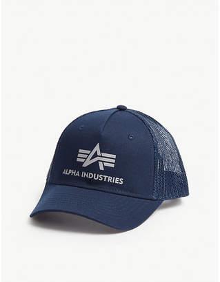 Alpha Industries Logo mesh snapback cap