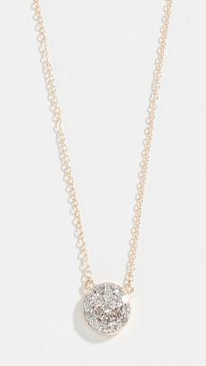 Mateo 14k Mini Diamond Disc Necklace