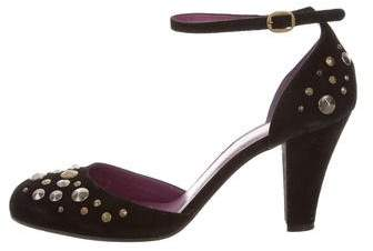 Marc by Marc Jacobs Embellished Ankle-Strap Pumps