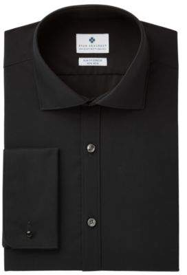 Ryan Seacrest Distinction Ryan Seacrest DistinctionTM Men's Slim-Fit Stretch Non-Iron Black French Cuff Dress Shirt, Created for Macy's