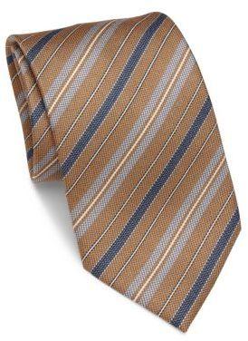 BrioniBrioni Diagonal Striped Silk Tie