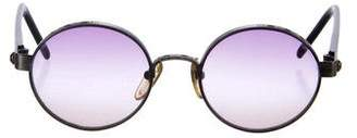 Jean Paul Gaultier Gradient Round Sunglasses