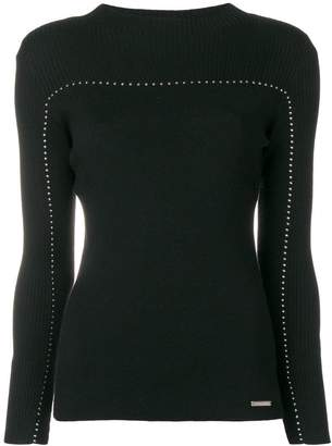 Frankie Morello ribbed panel jumper