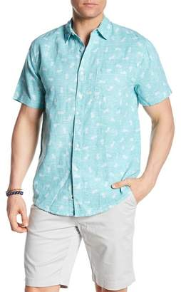 Trunks Surf and Swim CO. Maui Short Sleeve Linen Blend Shirt