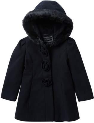 Rothschild Faux Fur Trim Barnmaster Coat (Toddler Girls)