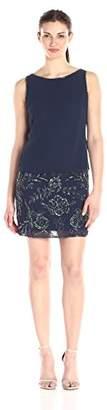 Adrianna Papell Women's Slvlss Bead GGT Blouson CKTL Dress