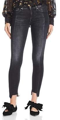 Hudson Nico Mid Rise Super Skinny Ankle Jeans in Black Sand