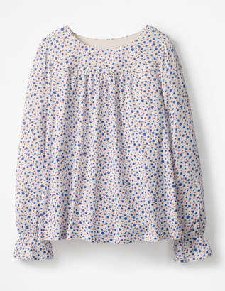 Boden Flare Cuff Jersey Top