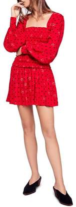Free People Two Faces Smocked Dress