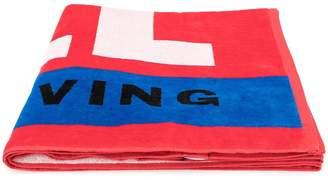 Diesel logo print towel