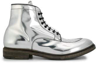 Premiata metallized ankle boots