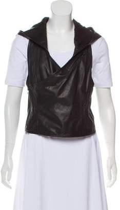 Helmut Lang Leather Hooded Vest