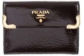Prada Patent Leather Logo Wallet w/ Tags
