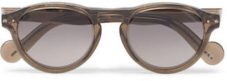 Moncler Round-Frame Acetate Sunglasses - Brown
