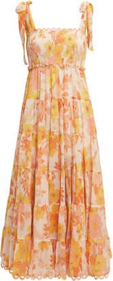 Zimmermann Primrose Crinkle Midi Dress